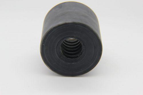zylindrische Trapezgewindemutter TR12x3 aus POM schwarz scaled